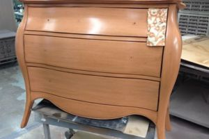 Antique painted commode to sample