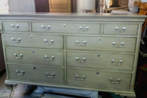 Antique painted and glazed dresser