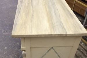 Faux marble top on chest