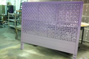 Shaded ombre finished headboard