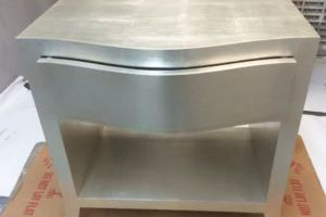 Custom built silverleaf nightstand