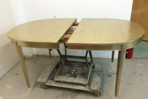 Champagne silverleaf dining table