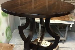 Custom solid walnut end table